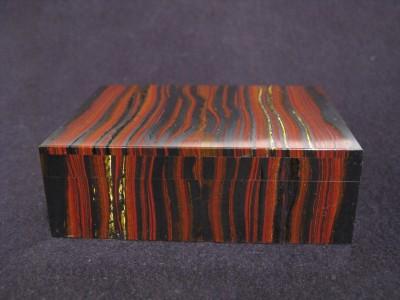 Porta sigarette/porta gioie in pietra Marra Mamba Tiger Eyes (Australia)