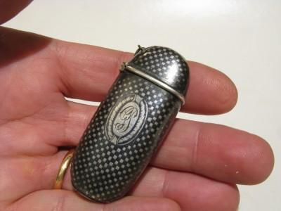 Porta fiammiferi Russo in argento niellato fine '800