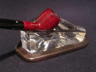 Posacenere appoggia pipa i cristallo - deco